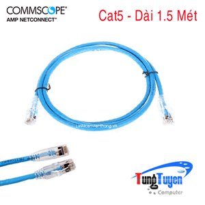 Dây nhẩy, Patch Cord Cat5 AMP/COMMSCOPE - 1.5 Mét, P/N: 1859239-5