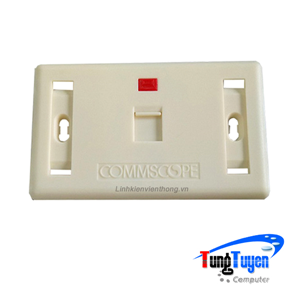 Faceplate Mặt nạ outlet 1 cổng Commscope 272368-1
