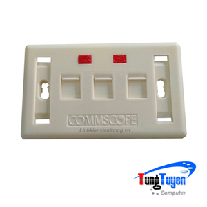 Faceplate Mặt nạ outlet 1 cổng Commscope 272368-3