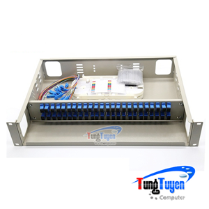 Hộp phối quang ODF 48FO lắp rack đầy đủ phụ kiện  (Cố định)